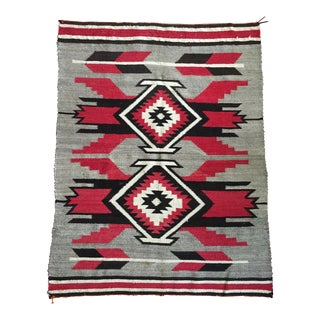 Early 1900s Crystal Style Navajo Rug - 3′7″ × 4′7″