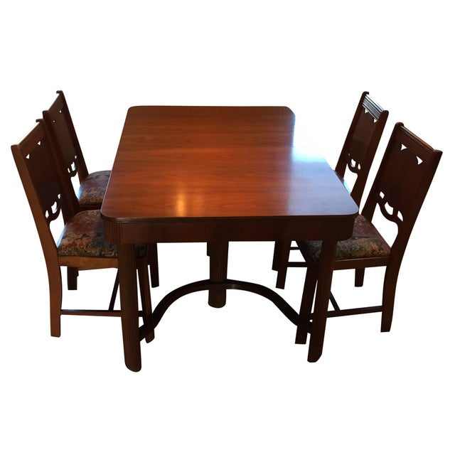 1940's Waterfall Dining Table Set - Image 1 of 5