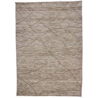 Contemporary Moroccan Brown Rug, 10'3 x 14'7