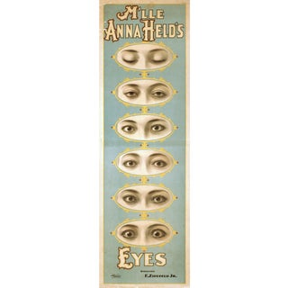 """Anna Held's Eyes"" Reproduction 1800s Vaudeville Poster Print"