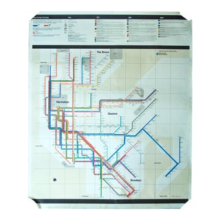 Non-Consumer 1972 Massimo Vignelli New York Subway Map Poster
