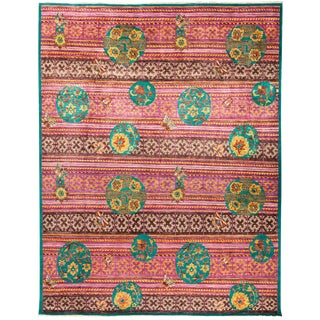"""Suzani Hand Knotted Area Rug - 8'1"""" X 10'3"""""""