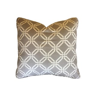 Gray and White Geometric Pillow