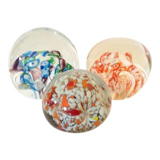 Bubble Mille Fiori Paper Weights - Set of 3