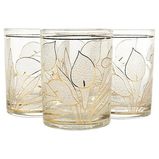 1970's Lillie Glass Tumblers - Set of 4