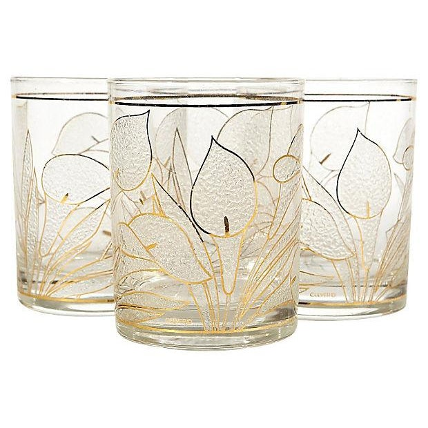 Image of 1970's Lillie Glass Tumblers - Set of 4