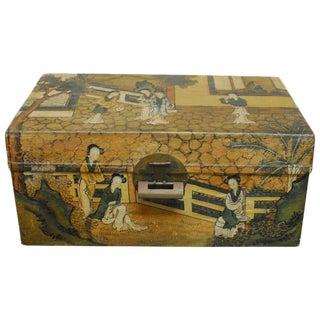 Chinese Polychrome Pigskin Box