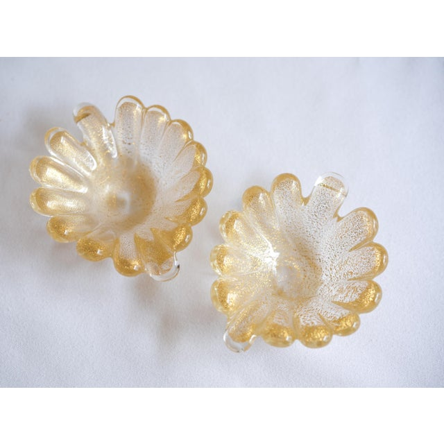 Image of Vintage Murano Leaf-Shaped Dishes - Set of 3
