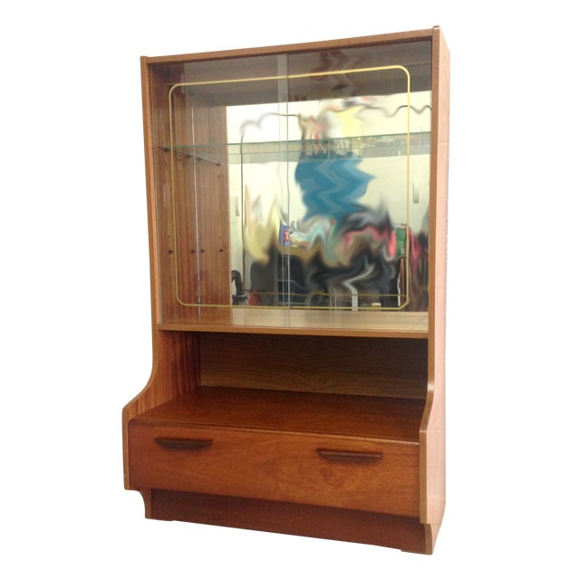 Mid-Century Modern Teak Glass Cabinet - Image 1 of 7