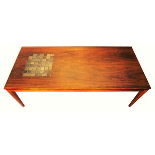 Danish Rosewood Coffee Table with Tiles