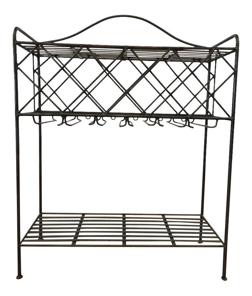 Ballard Designs Contemporary Black Metal Kitchen Rack   Image 1 Of 6