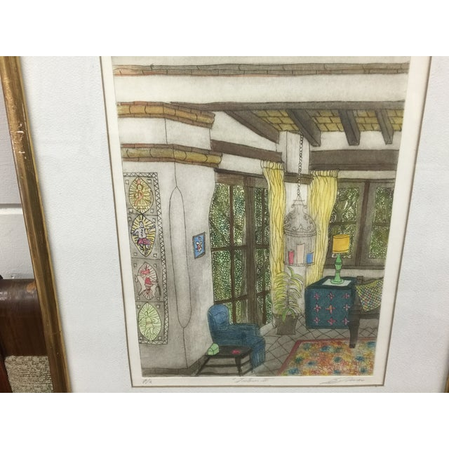 Romero Signed Interior Lithographs - A Pair - Image 3 of 9
