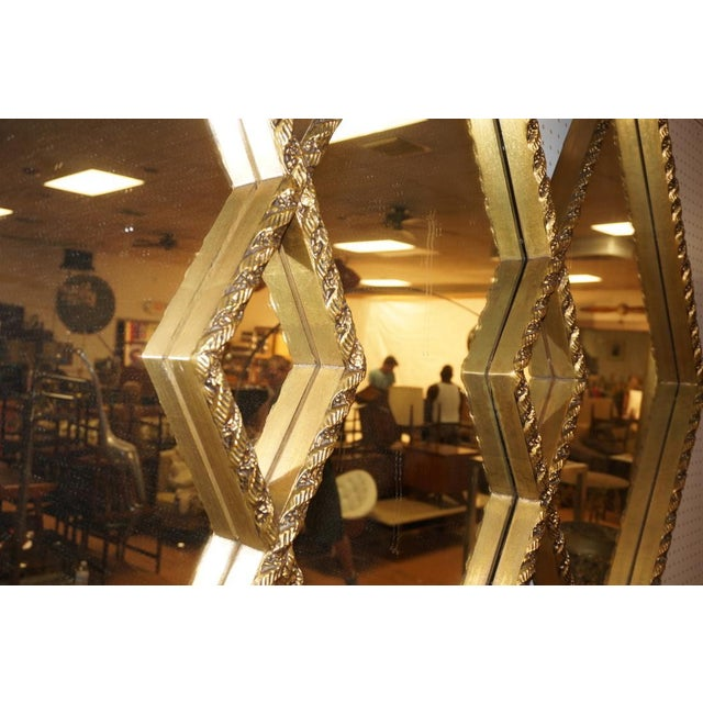 Art Deco Diamond Wall Mirror - Image 3 of 5