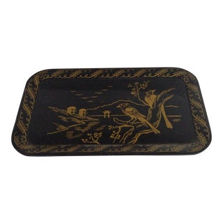 Scenic Black Tole Tray