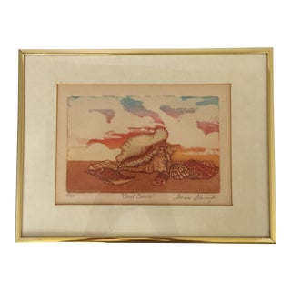 Framed Multi-Color Nautical Engraving