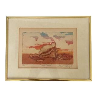Vintage Framed Nautical Engraving