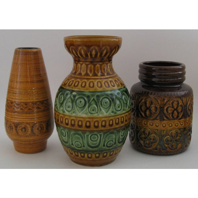 Image of West German Ceramic Vases - Set of 3