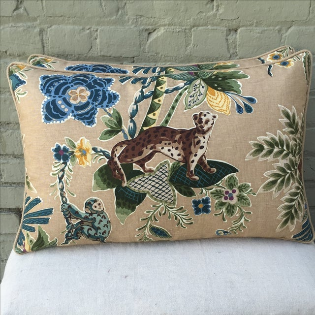 Cowtan & Tout Printed Jungle Pillows - A Pair - Image 2 of 5