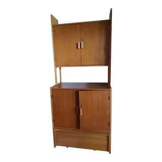 Vintage Mid-Century Modern Swedish Teak & Oak Wall Unit