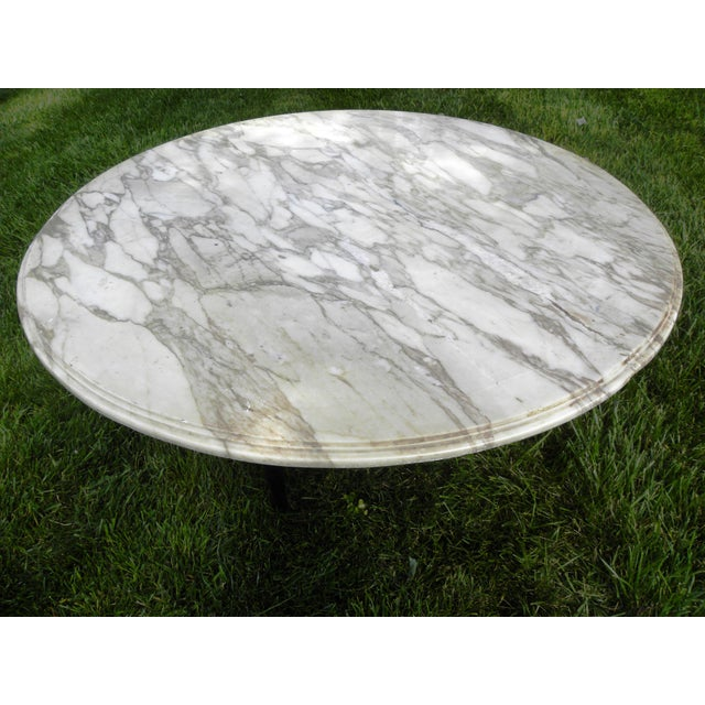 Vintage Mid-Century White Marble Coffee Table - Image 5 of 8