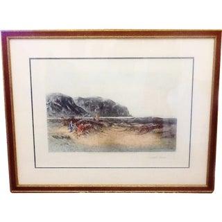 "Vintage Print. Golf Art. ""A Difficult Bunker"" Golf Print, 1894"
