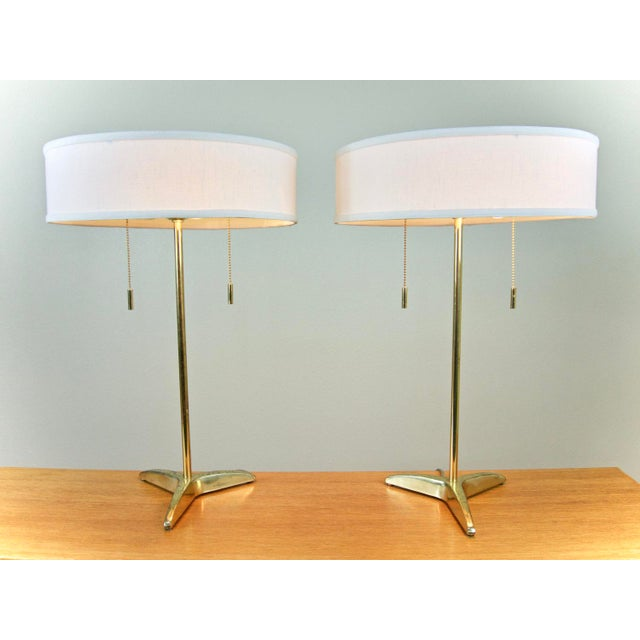 Gerald Thurston Brass Table Lamps- A Pair - Image 2 of 6