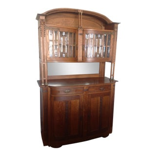 Antique French Art Nouveau Hutch