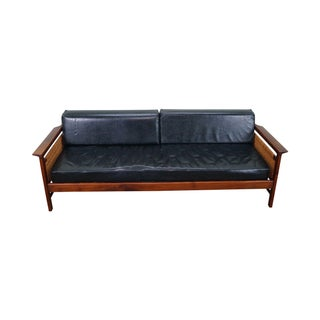 Danish Modern Vintage Day Bed Sofa with Cane Sides