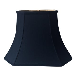 Black Silk Lined Pagoda Lamp Shade