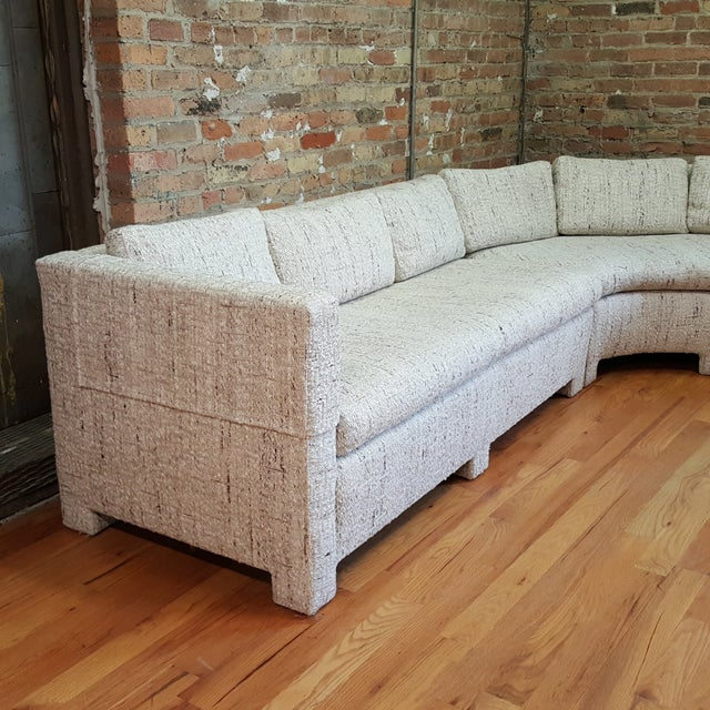 1970s Large Milo Baughman Style Sectional - Image 2 of 7