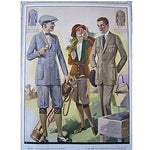 Image of Vintage 1923 Golf Fashions Tailor Lithograph Print