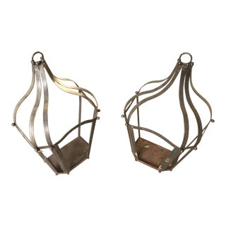 Iron Lighting Cages - a Pair
