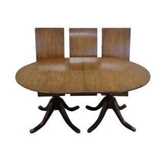Baker Mahogany Duncan Phyfe Dining Table