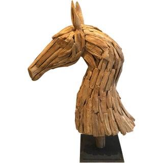 Scrap Wood Horse Head Sculpture