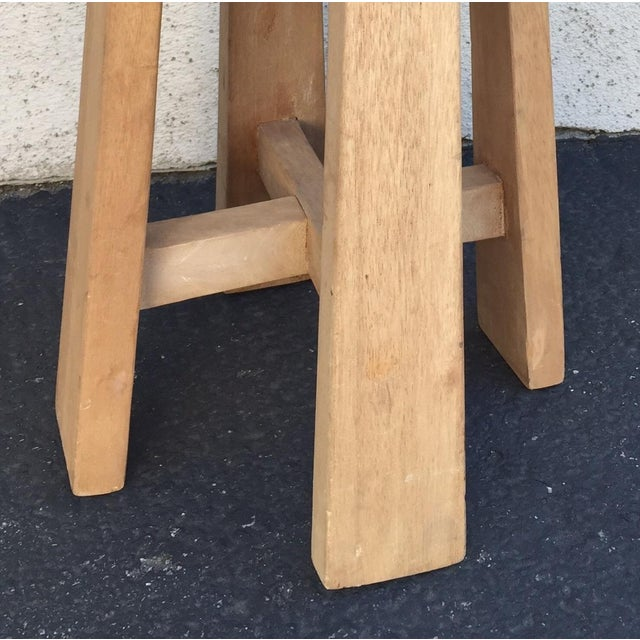 Simple Teak Stool - Image 4 of 6