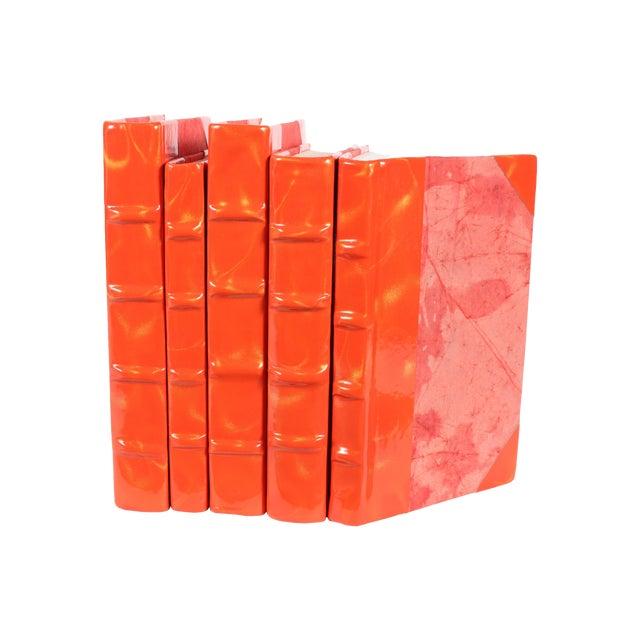 Image of Orange & Gold Prismatic Patent Books - Set of 5