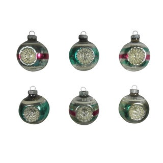 Striped Double-Indent Ornaments - Set of 6