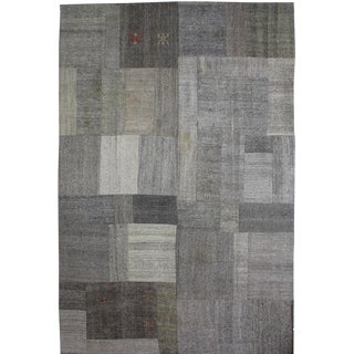 "Hand Knotted Patchwork Kilim - 12'3"" x 8'2"""