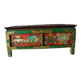 Antique Hand Painted Tibetan Altar