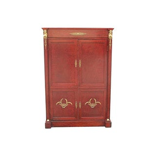 Neoclassical 1920s Red Armoire