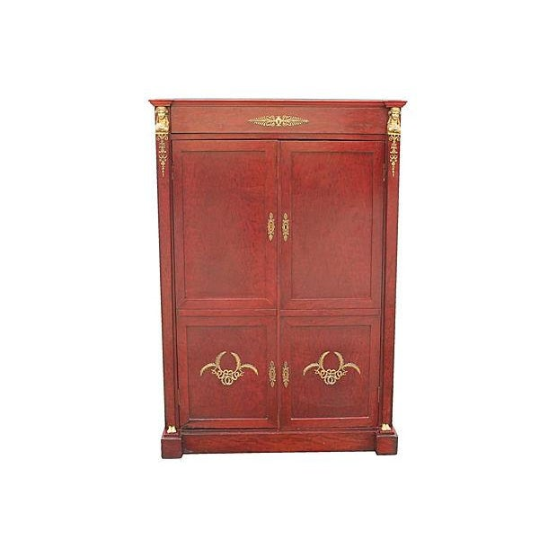 Image of Neoclassical 1920s Wood Armoire