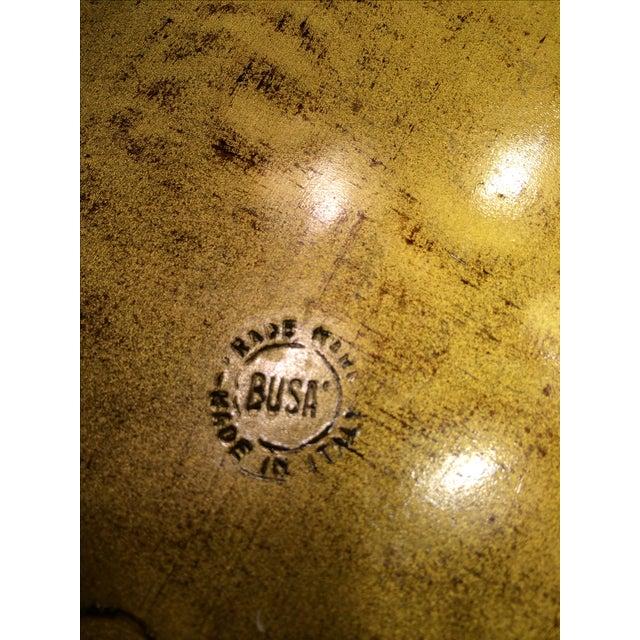 Vintage Florentine Craved Gold Leaf Orange Tray - Image 7 of 7