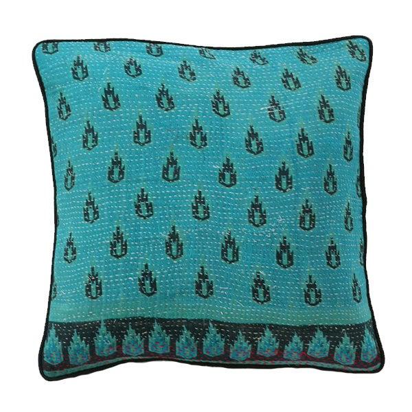 Vintage Kantha Pillow - Image 1 of 3
