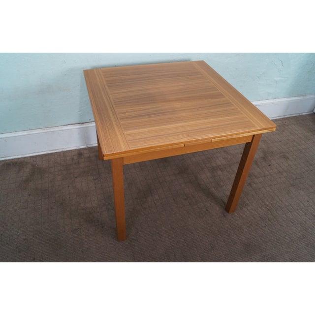 Danish Modern Teak Refractory Square Dining Table - Image 2 of 10
