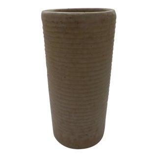 Mid-Century Modern Ribbed Art Pottery Vase