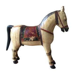 Antique Carved Wooden Horse