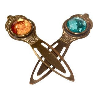 Vintage Jeweled Bookmarks - A Pair