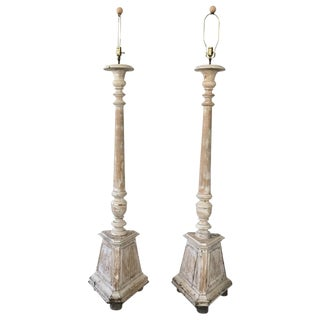 19th C. Painted Floor Lamps - A Pair