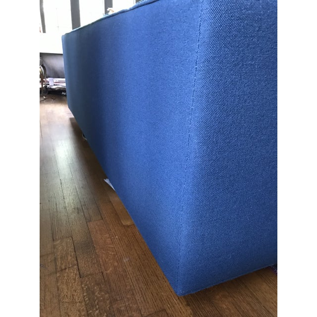 1970s Marden Mid-Century Blue Upholstered Sofa and Chair - Image 4 of 11