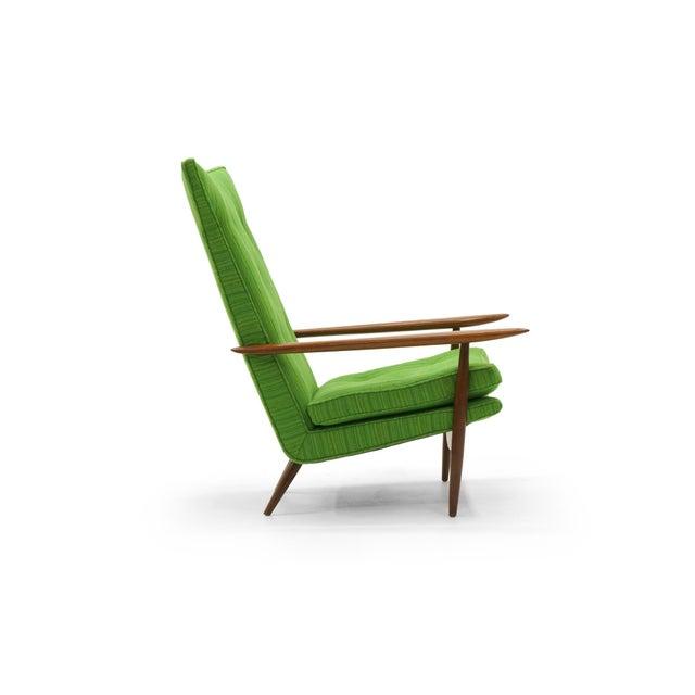 Rare George Nakashima for Widdicomb High Back Lounge Chair and Ottoman - Image 5 of 11
